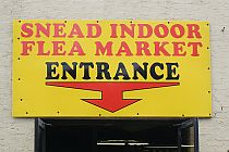 Snead Indoor Flea Market front entrance