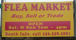 Snead Indoor Flea Market road-side sign